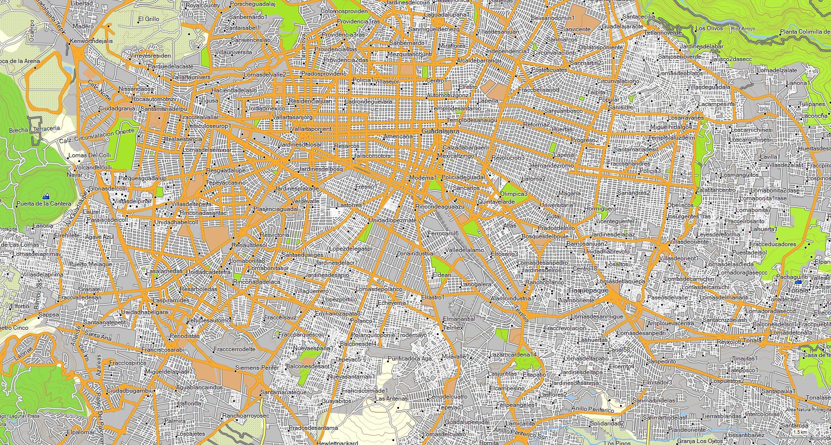 Mapa Topografico De Jalisco Mexico Para Gps Garmin Cartografia
