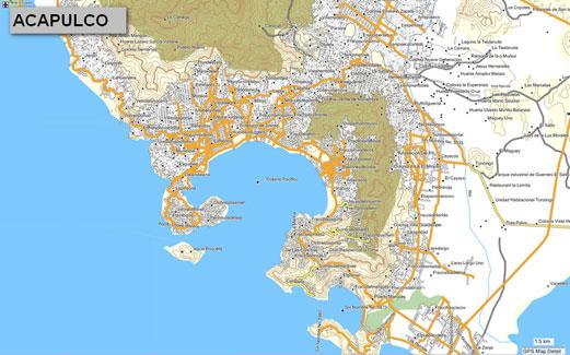 mapa topogr fico de guerrero m xico para gps garmin