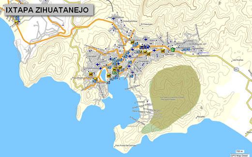 Mapa topogrfico de Guerrero Mxico para GPS Garmin