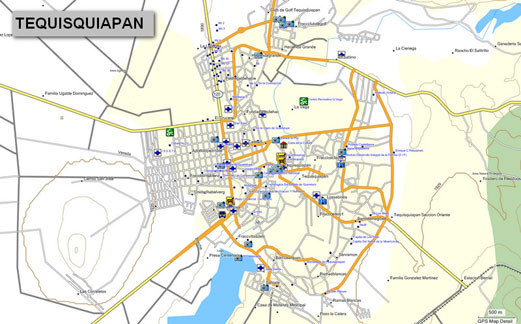 mapa topogr fico de quer taro m xico para gps garmin