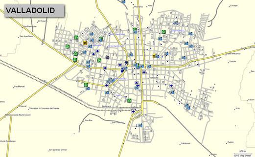 Mapa topogrfico de Yucatn Mxico para GPS Garmin