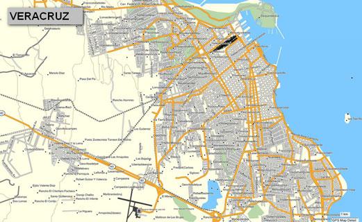 Mapa topográfico de Veracruz, México, para GPS Garmin ...